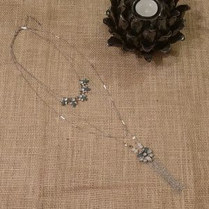 LOFT | Sparkling 3 Tier Long Necklace